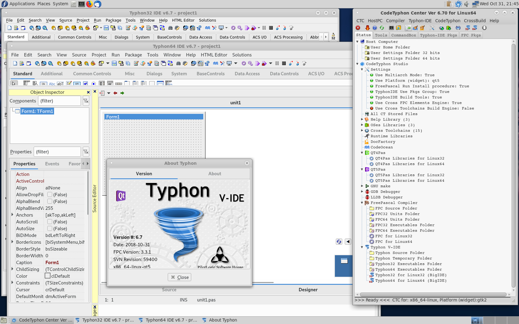 CT on Fedora 29