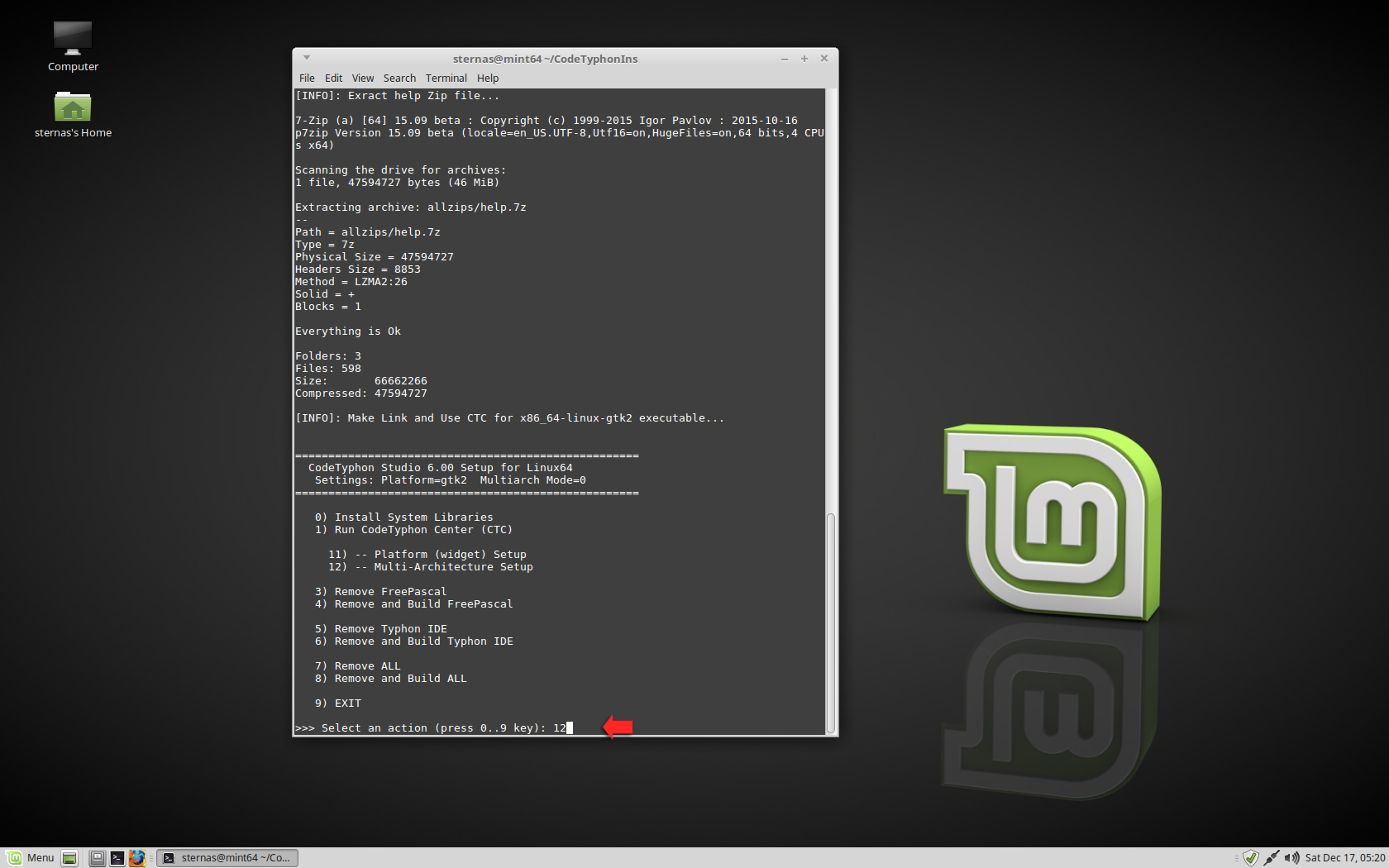 CT on LinuxMint 18 1