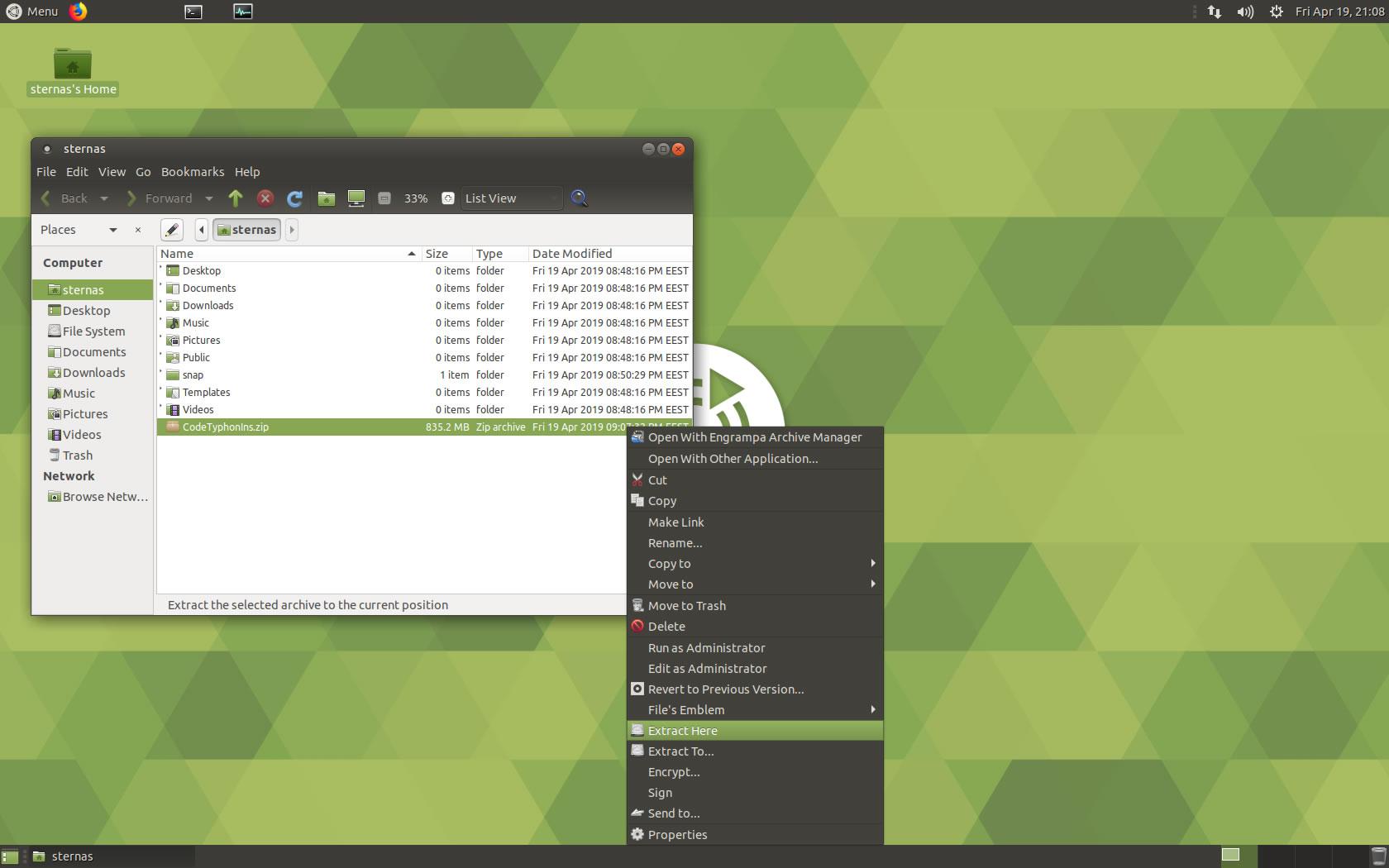 Ubuntu Unzip