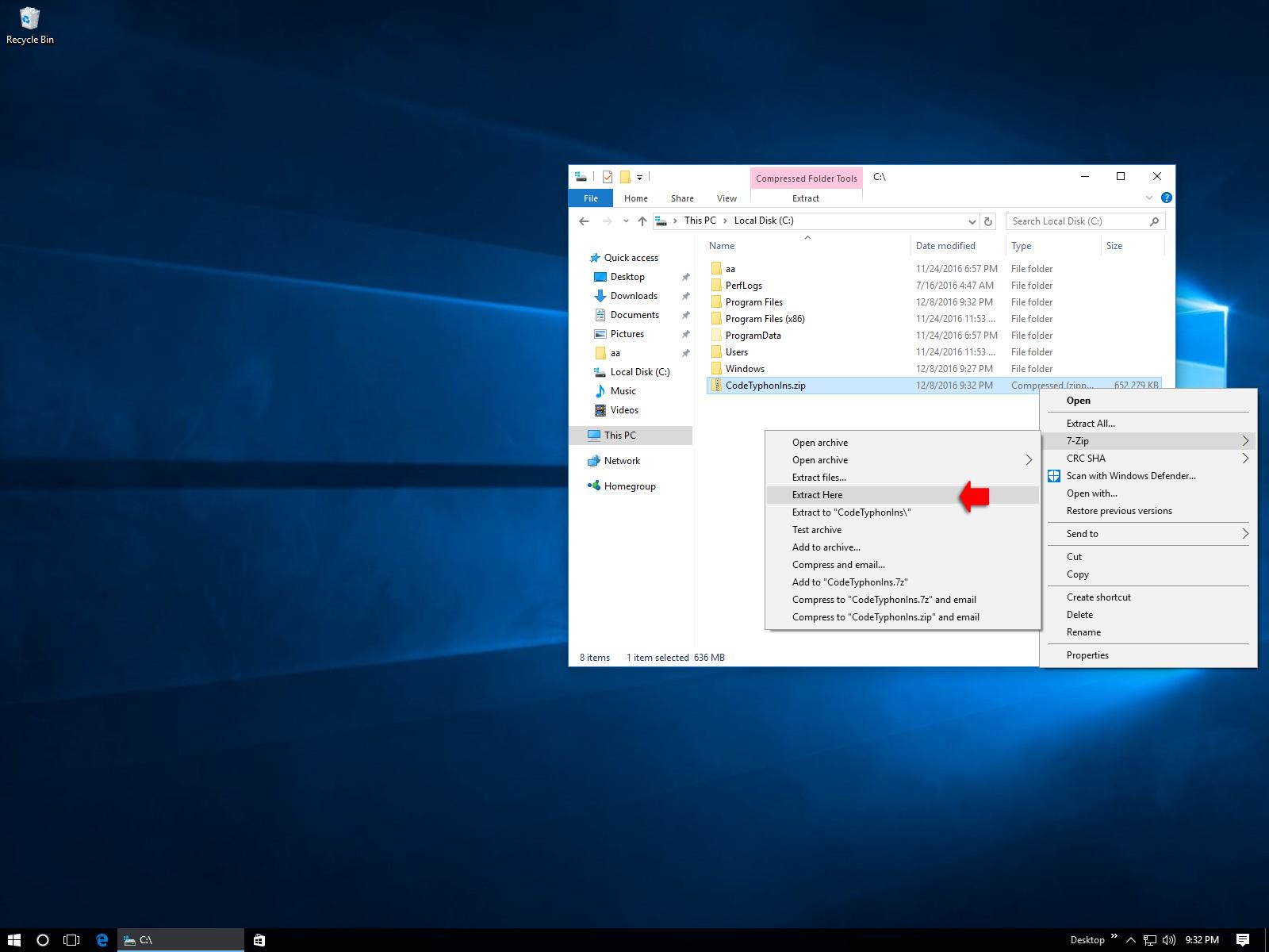 CT on Windows 10