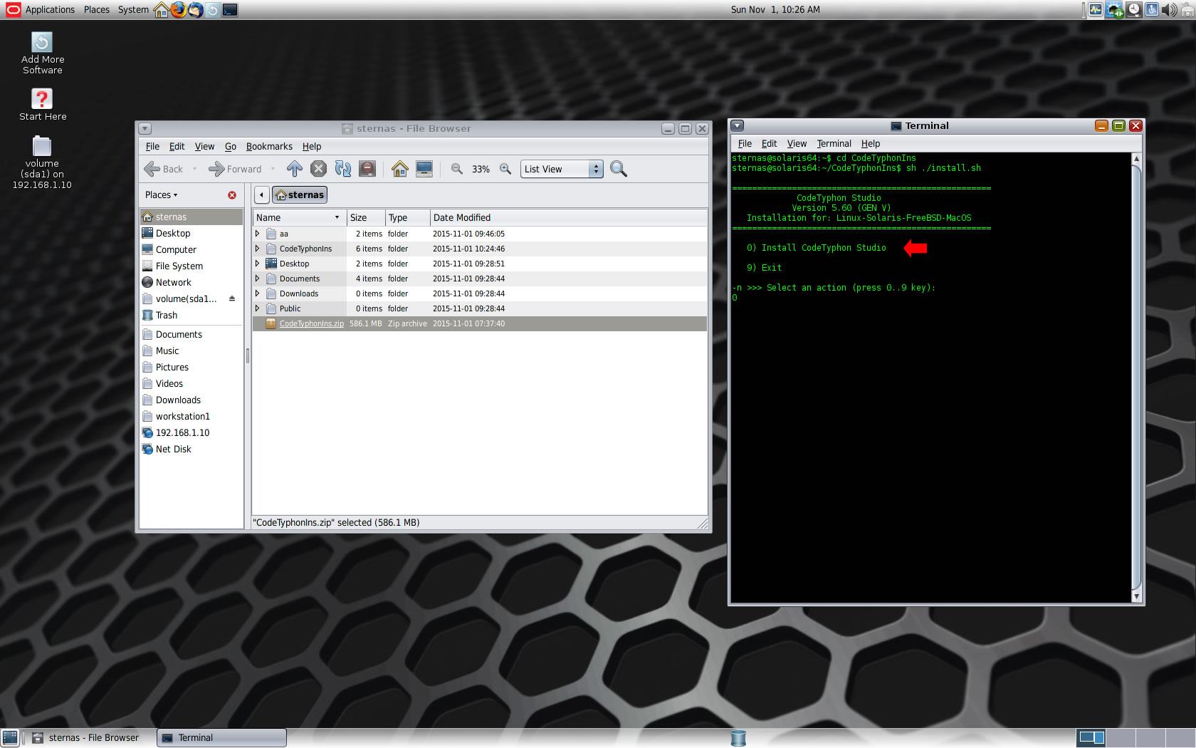 CodeTyphon on Solaris 11 3 - Index